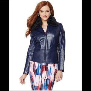 Hal Rubenstein leather convertible bomber jacket